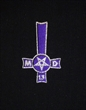 Embroidered inverted cross